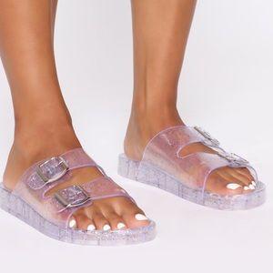 Fashion Nova Clear Jelly Slides 9